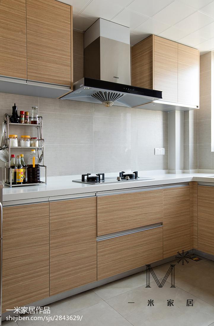 精选76平米二居厨房现代实景图片大全