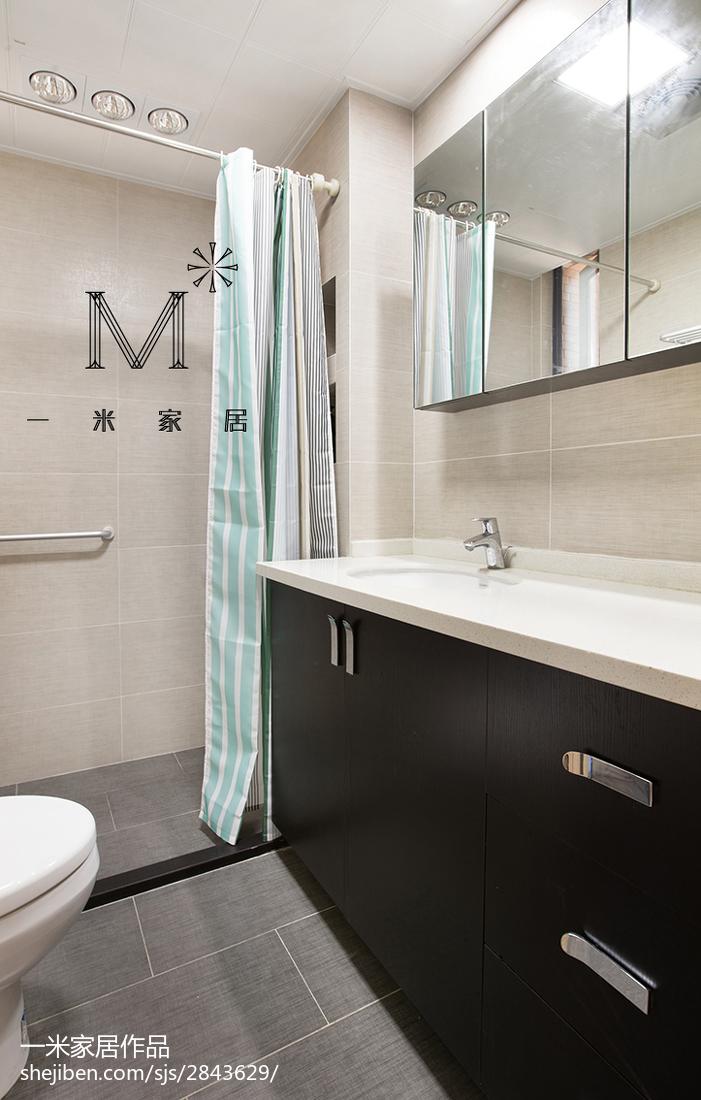 201884平米二居卫生间现代装修设计效果图片大全