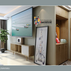 简约欧式三室两厅装修效果图欣赏