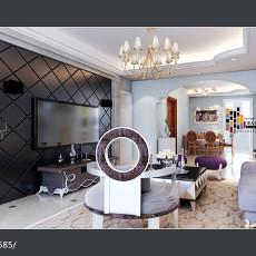 2018精选80平米二居客厅欧式装修效果图片大全