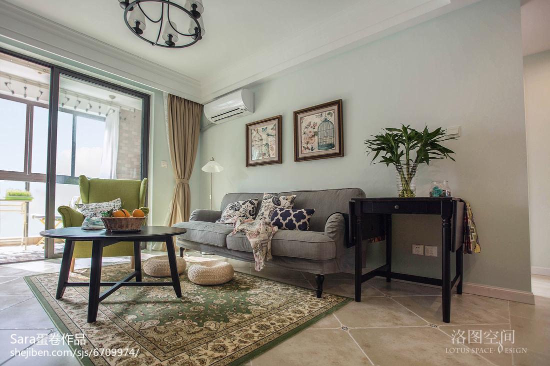 家居美式格调客厅效果图