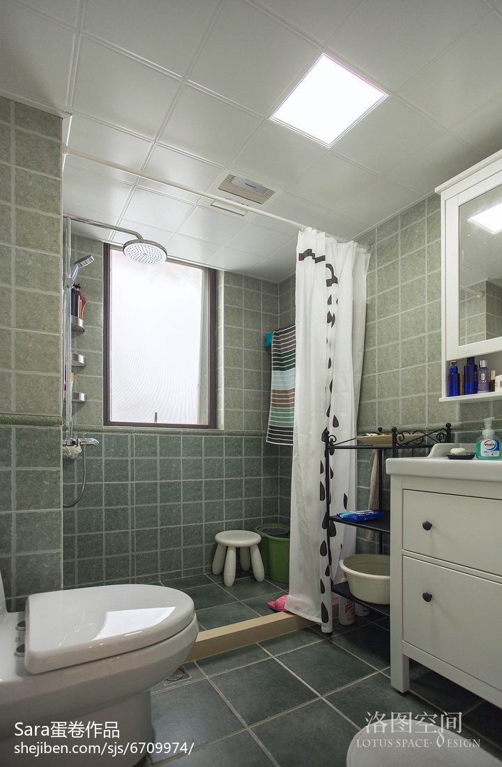家居美式格调卫浴效果图