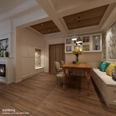 欧式乡村风格三室两厅装修效果图片大全