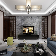 精选大小108平中式三居客厅装修效果图片