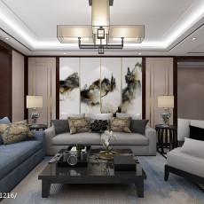 2018大小92平中式三居客厅装修欣赏图片