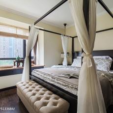 面积106平现代三居卧室装修设计效果图片大全