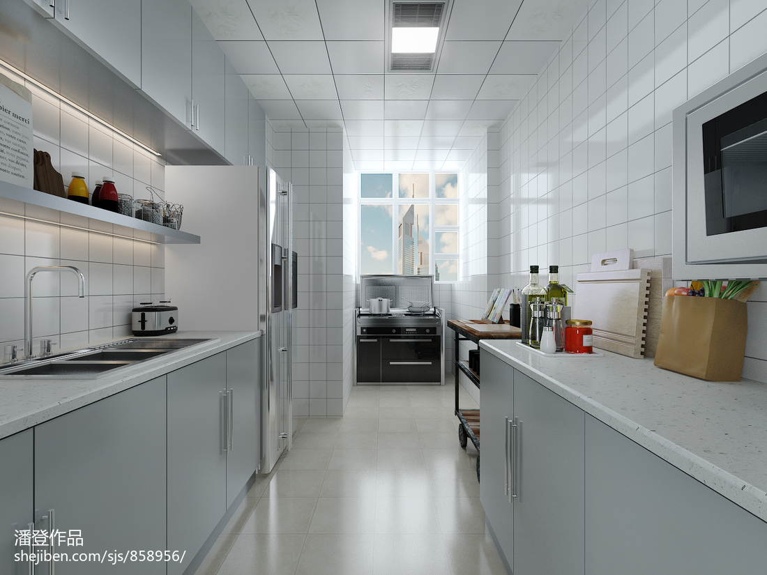 2018北欧三居厨房装修设计效果图片