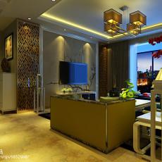 105平米三居客厅中式装修效果图