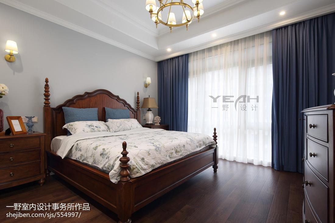 美式时尚家装风卧室效果图