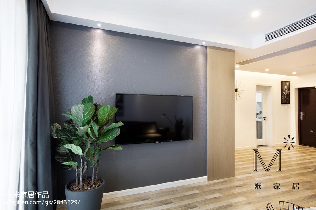 热门76平米现代小户型客厅效果图