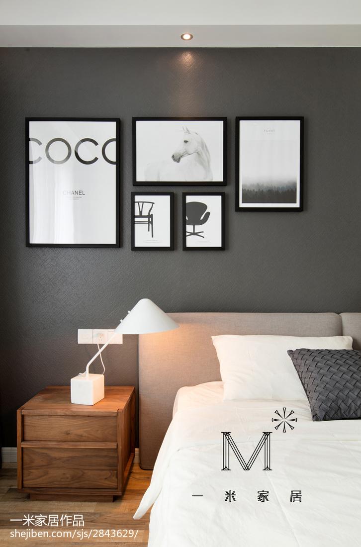 热门面积80平小户型卧室现代装修欣赏图片