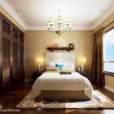 精选88平米二居卧室美式装修实景图片欣赏