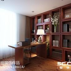 面积79平现代二居书房设计效果图