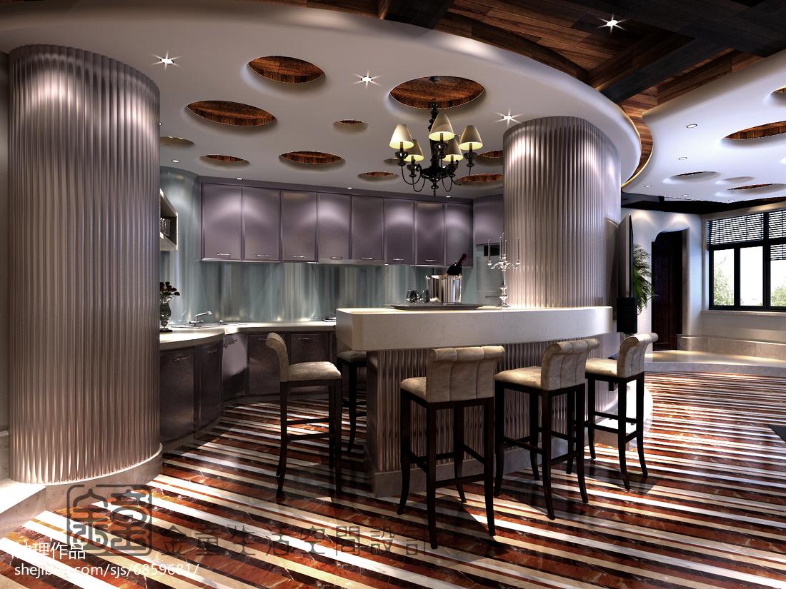 精美面积142平复式厨房现代装修欣赏图