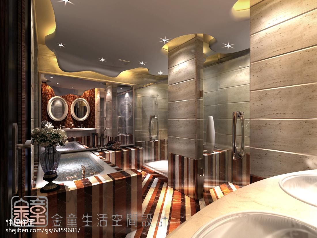 精美现代复式卫生间效果图片