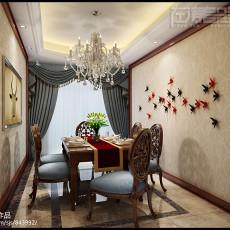 120平米四居餐厅美式效果图片大全