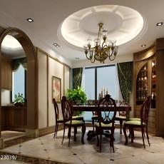 热门面积127平美式四居餐厅实景图片