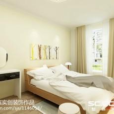 面积79平现代二居卧室装修设计效果图片大全