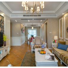 明亮115平美式四居客厅装修装饰图