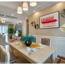 精选111平米四居餐厅美式装修效果图片