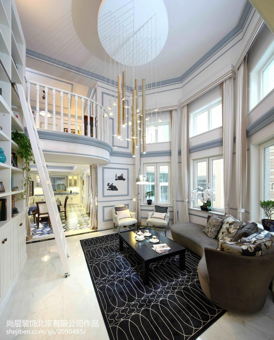面积140平别墅客厅美式实景图片