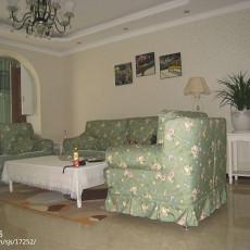 面积109平田园三居客厅装修欣赏图片大全