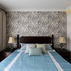 温馨117平美式三居卧室装修案例