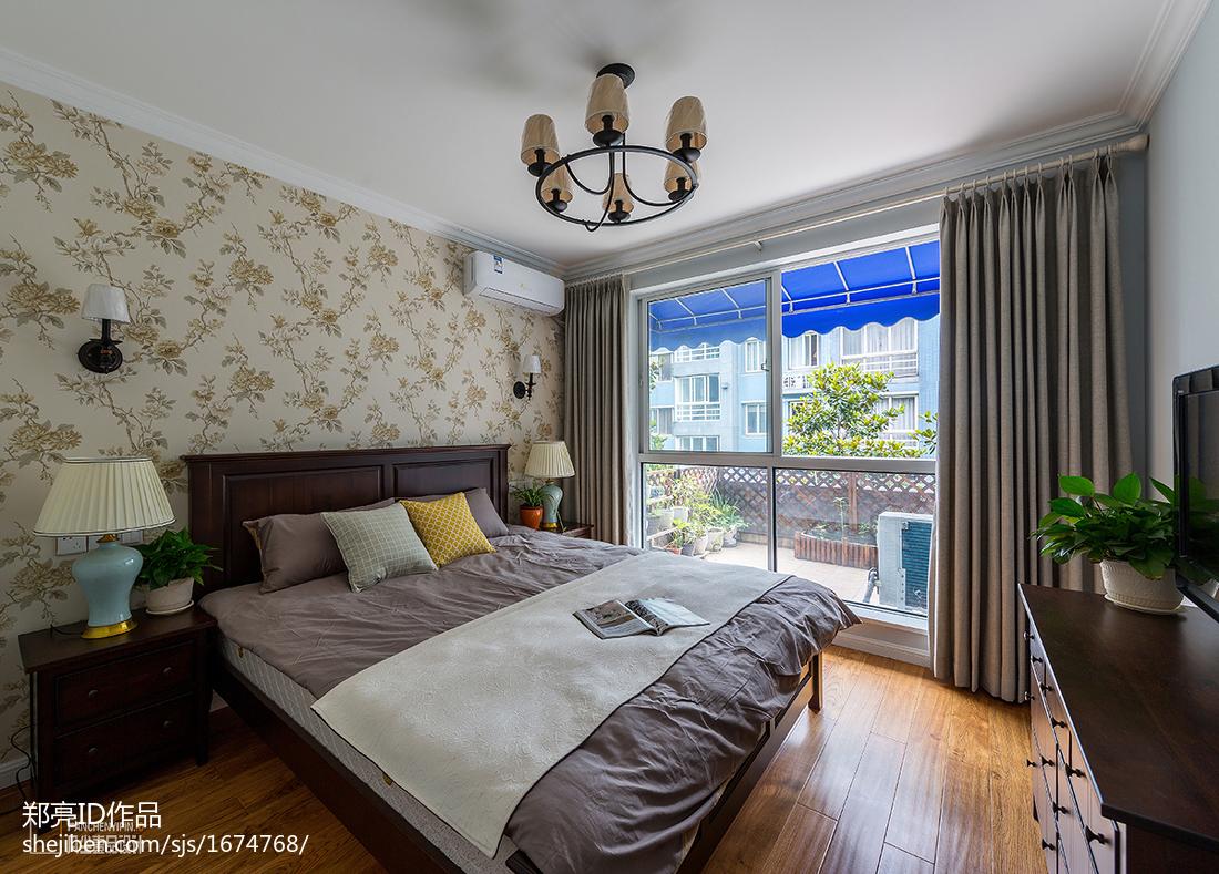 悠雅86平美式二居卧室设计案例