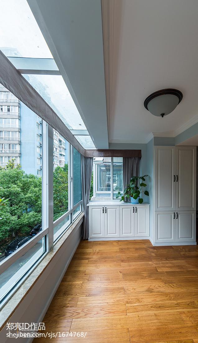 精美67平美式二居阳台装修效果图