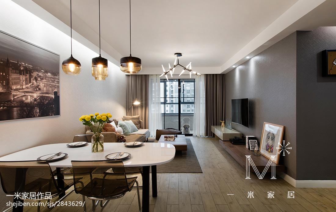 热门88平米二居客厅现代装饰图片欣赏