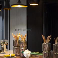 大气106平现代三居餐厅装修装饰图
