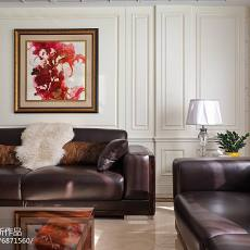 精选122平米美式别墅客厅实景图片大全