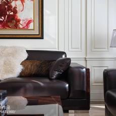 2018123平米美式别墅客厅装修设计效果图片