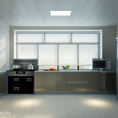 精选面积107平现代三居厨房装修设计效果图片