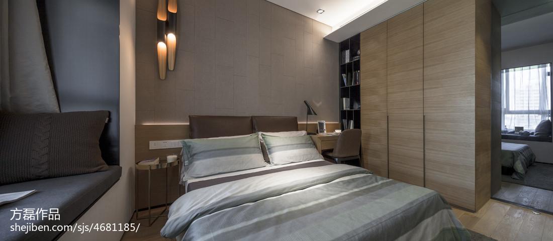 明亮32平现代小户型卧室装修效果图