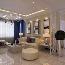 时尚新中式客厅装潢案例