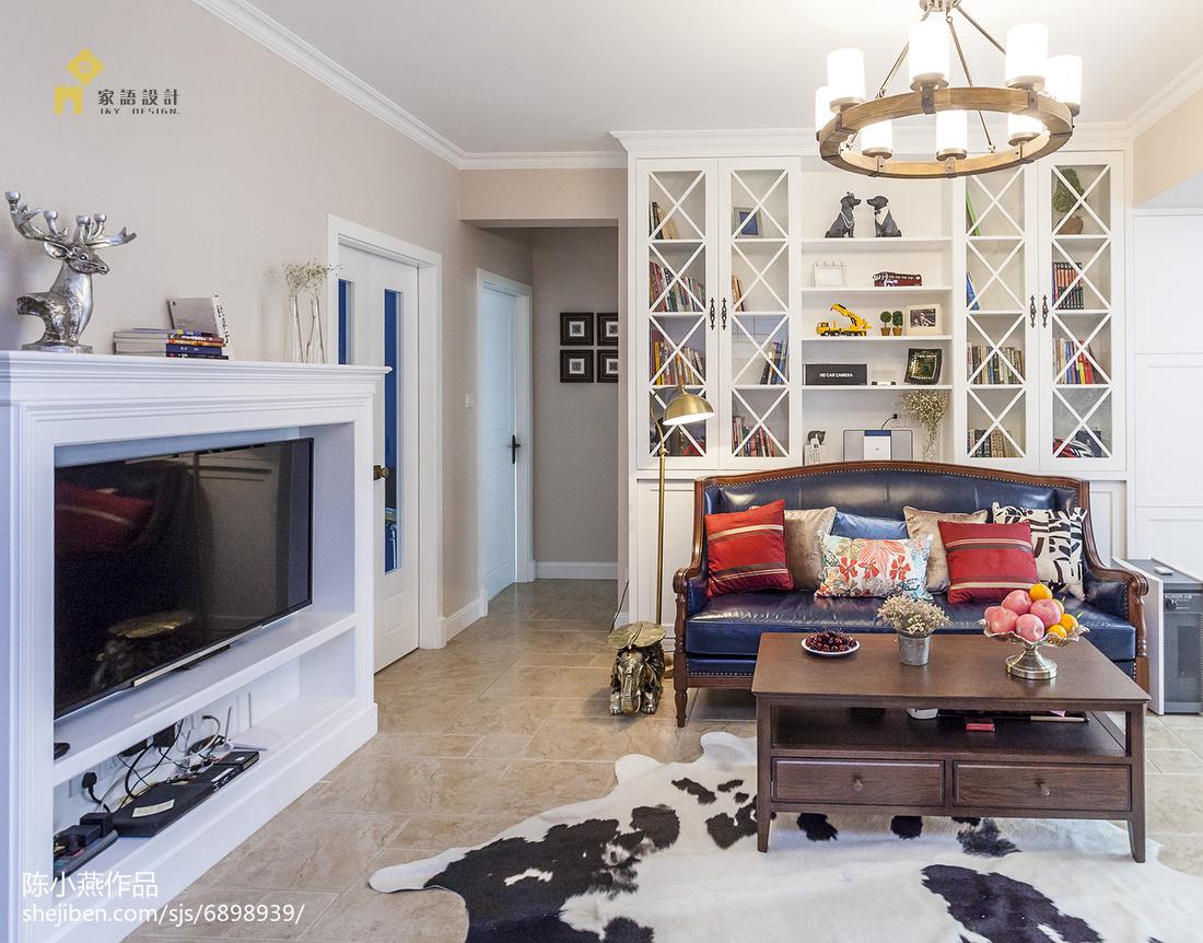 优美100平美式三居装饰图