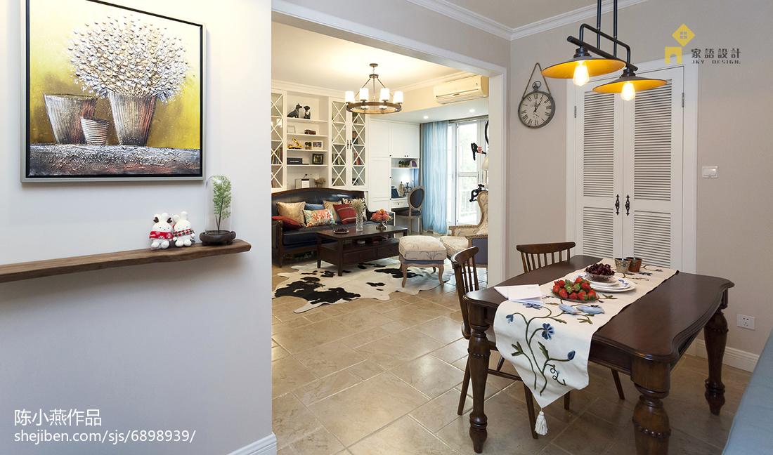 热门104平米三居餐厅美式装饰图片欣赏