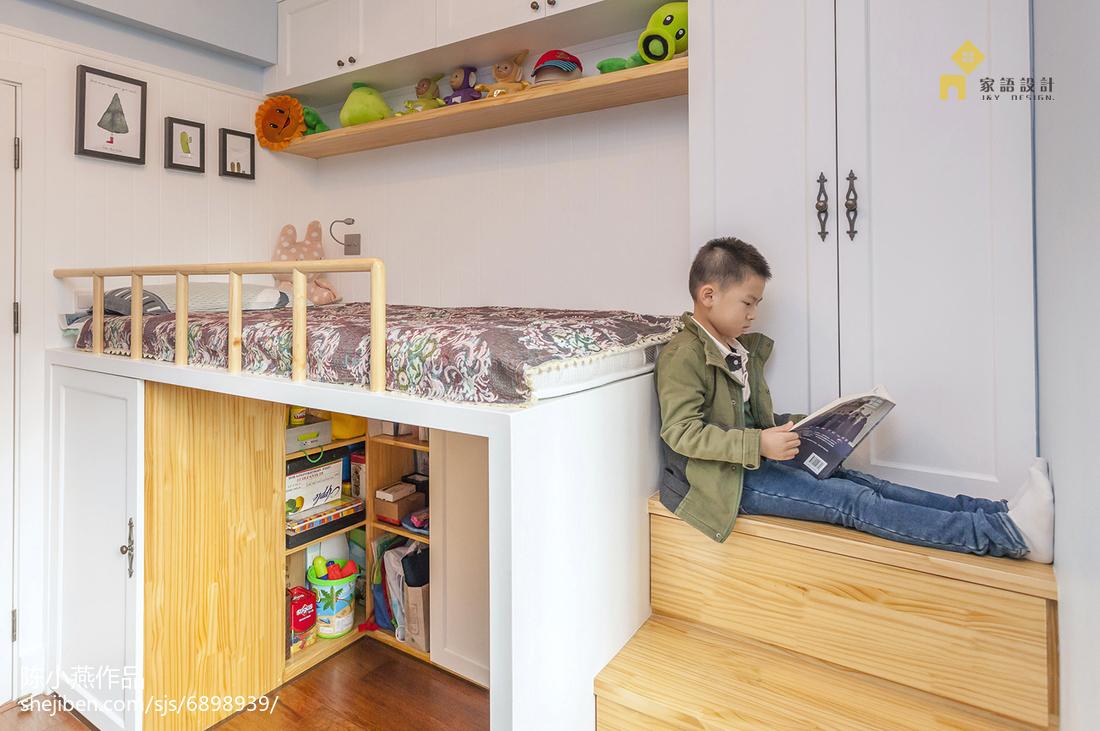 优美96平美式三居儿童房装修美图