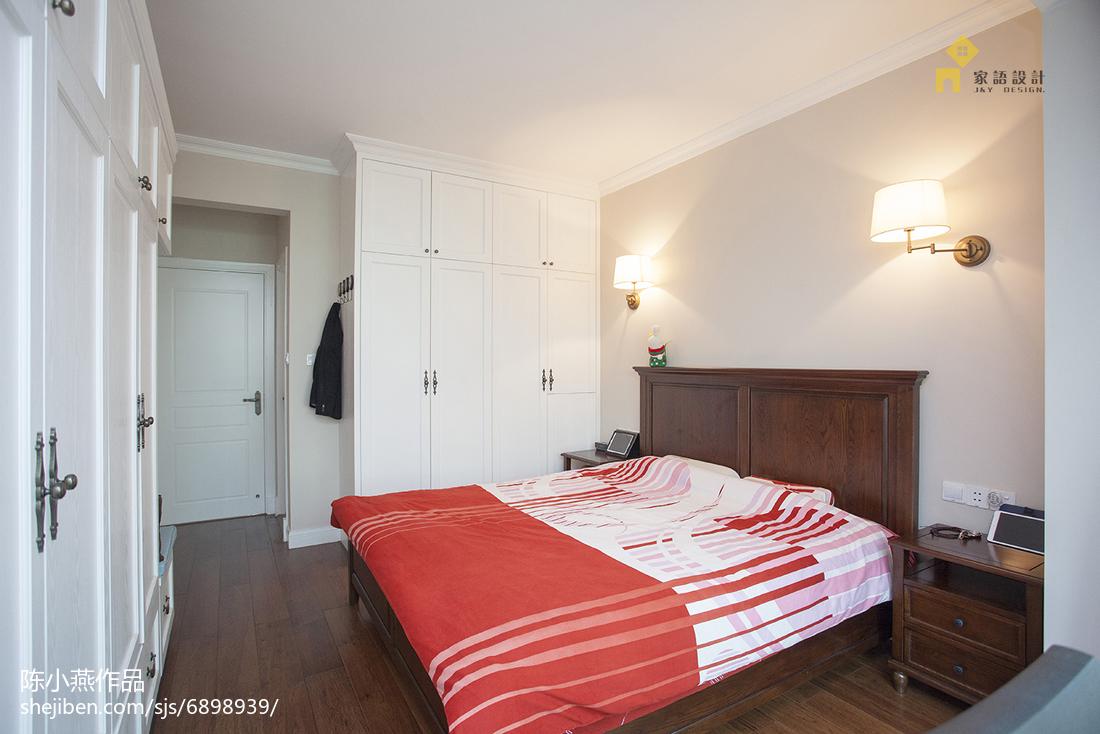 2018精选102平米三居卧室美式装修设计效果图