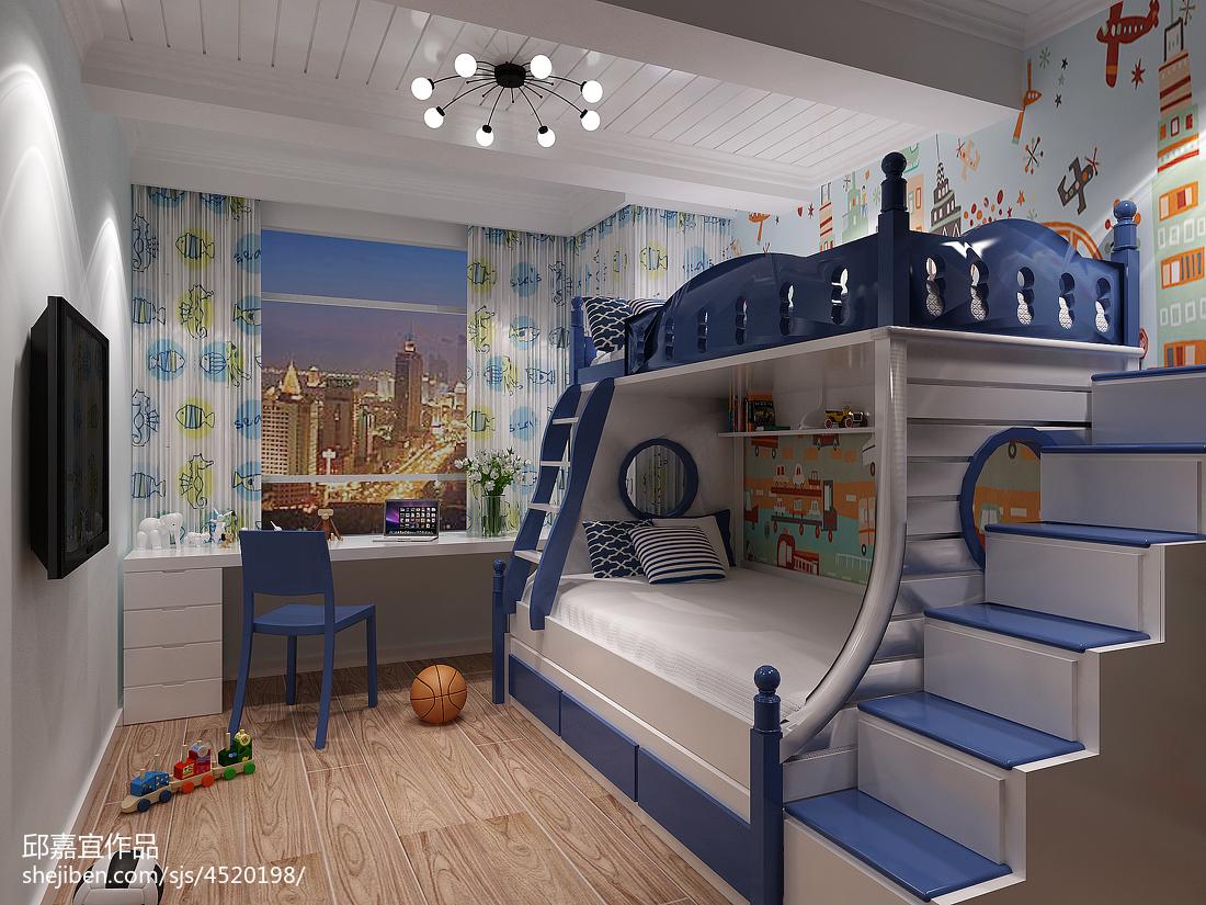 2018132平米地中海复式儿童房装修实景图片欣赏