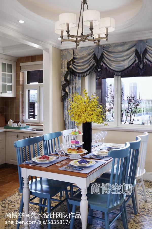 面积105平田园三居餐厅欣赏图片大全