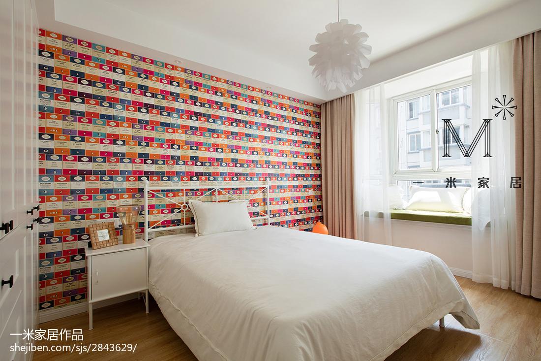 2018精选面积74平北欧二居儿童房装修实景图片