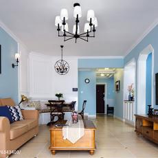热门面积100平美式三居客厅装修欣赏图片