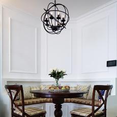 精美101平米三居餐厅美式装修效果图片大全