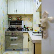 精美93平米三居厨房田园实景图片欣赏