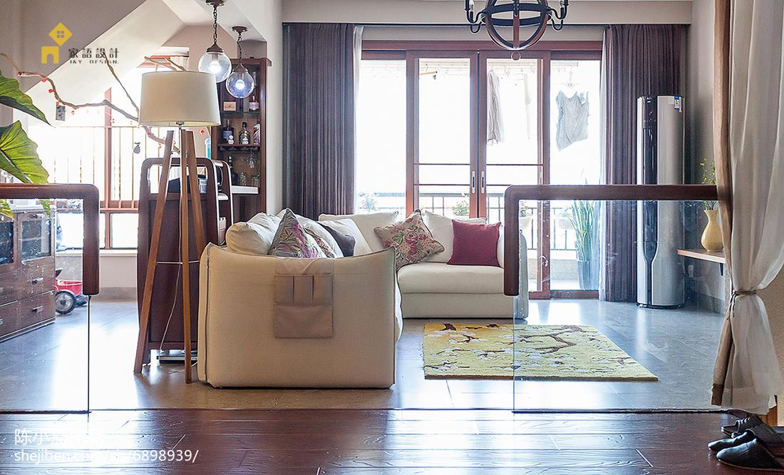 精美日式复式客厅装修设计效果图片大全