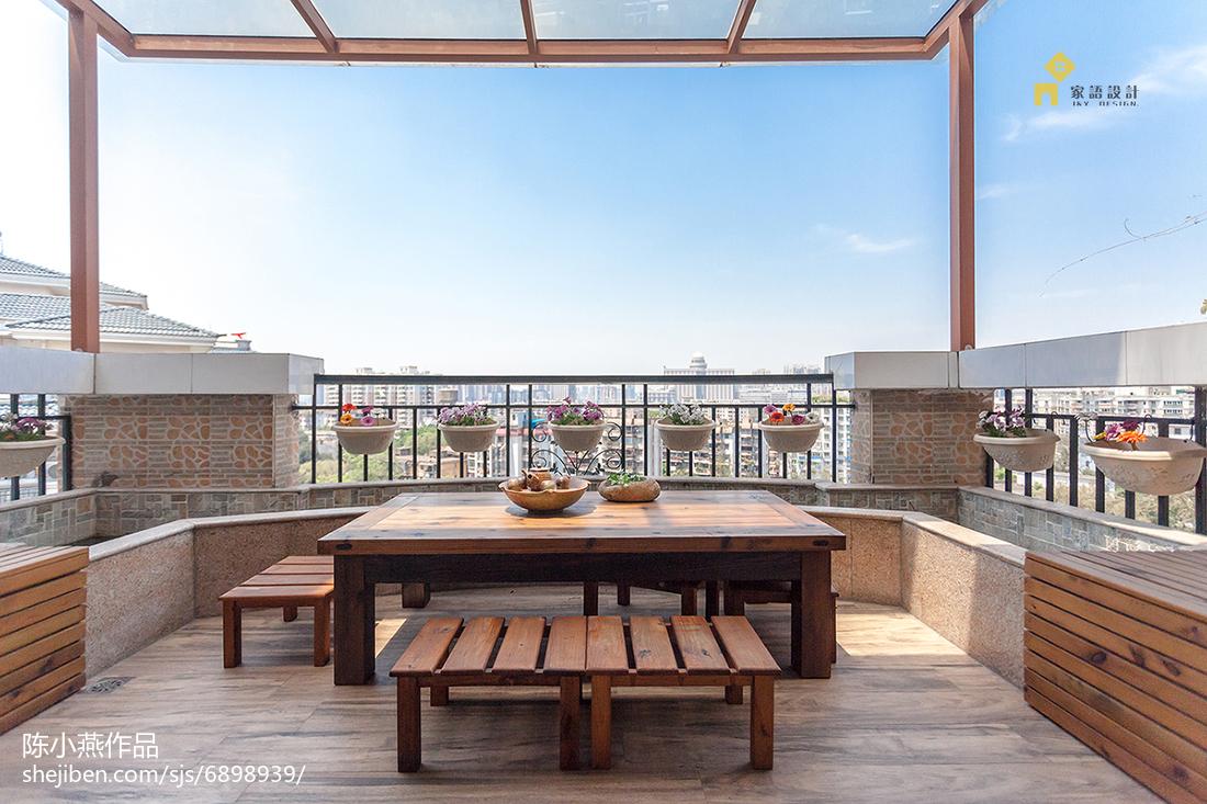 质朴47平日式复式阳台实拍图
