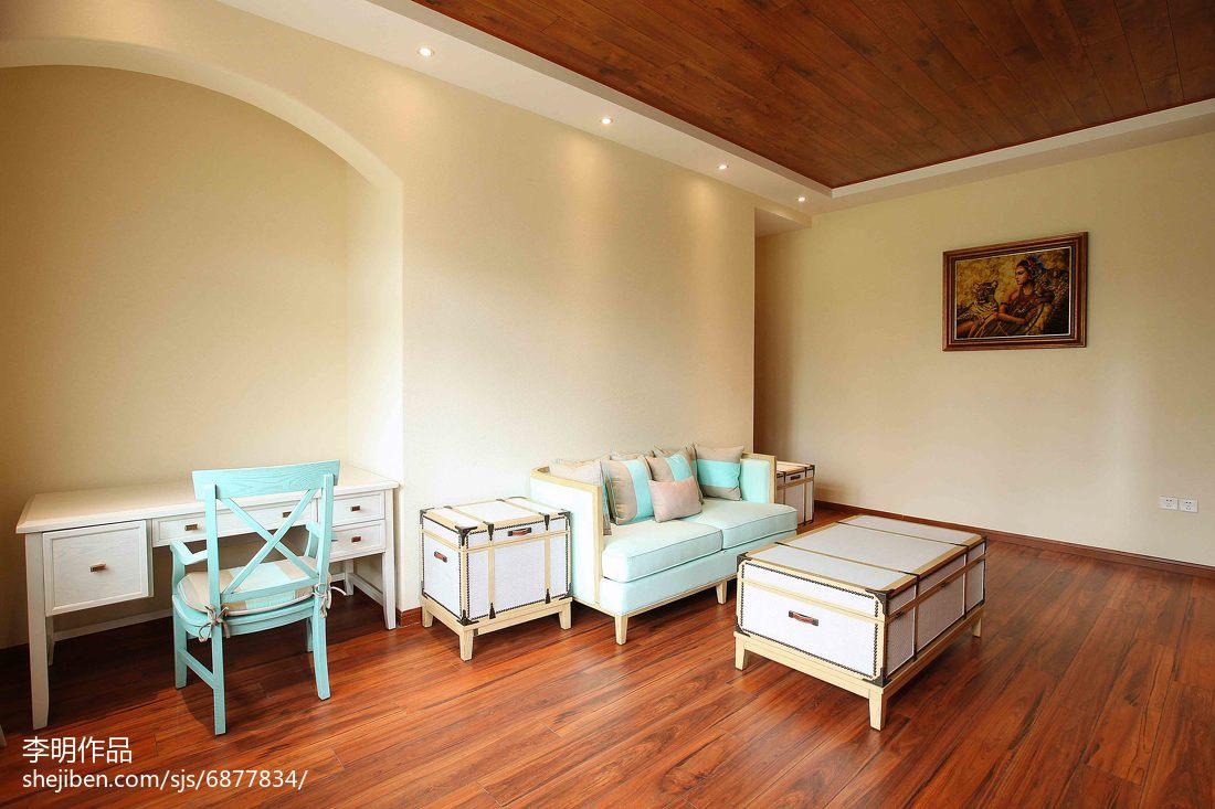 面积131平别墅书房美式实景图片欣赏