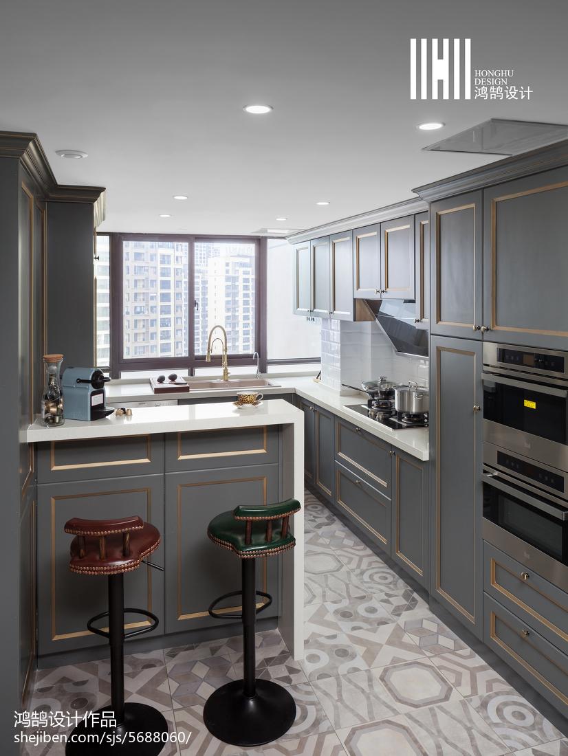 美式厨房吧台设计图